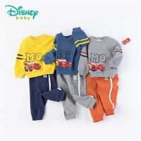 迪士尼Disney童装 男童闪电麦昆印花卫衣套装秋季新品抓绒上衣运动裤2件套193T955