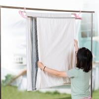 可伸缩不锈钢晒被单衣架加长晾衣架 儿童婴儿浴巾衣服被子挂衣架