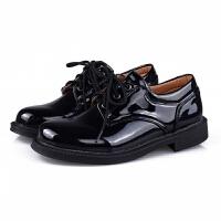 男童皮鞋漆皮儿童礼服皮鞋学生黑色表演皮鞋皮鞋加大码
