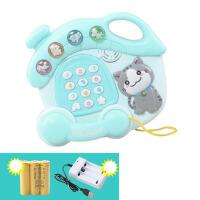 宝宝玩具电话机手机婴儿童早教力音乐1-3岁0小孩6-12个月男女 【充电版】薄荷绿