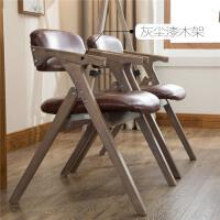 餐椅北欧实木餐椅现代简约布艺可折叠椅休闲扶手靠背椅电脑椅家用