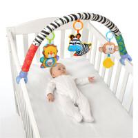 ?新生儿床铃床挂 婴儿推车车挂车夹宝宝安全座椅夹玩具0-1?