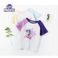 【秒杀价:33】小马宝莉童装女童夏装2019春夏新品短袖T恤衫上衣