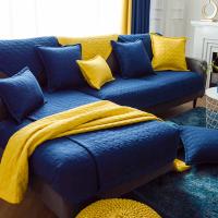 北欧沙发垫简约现代高温水洗全棉布艺防滑四季通用沙发坐垫巾罩套