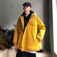 男生工装棉衣休闲潮流冬季连帽外套