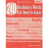 【一年级】240 Vocabulary Words Kids Need to Know Grade 1 学乐词汇练习册