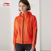 李宁卫衣女士新款训练系列长袖外套连帽宽松女装上衣运动服AWDN264