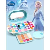 迪士尼化妆品套装无毒冰雪奇缘2艾莎公主女孩彩妆盒演出儿童玩具