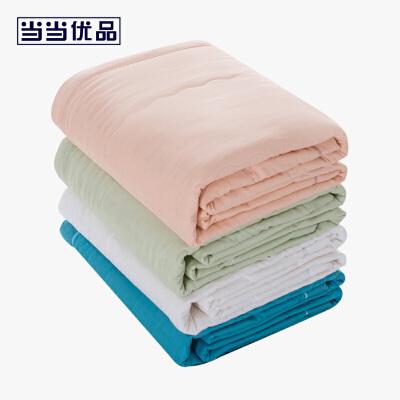 【618年中庆,每满100减50】当当优品家纺 纯棉双层纱棉花夏凉被 天竺棉花薄被空调被