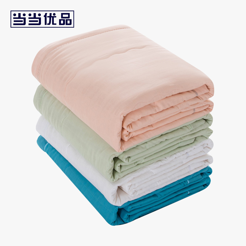 当当优品家纺 双人纯棉双层纱棉花夏凉被 天竺棉花薄被空调被