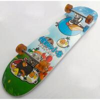 大号四轮双翘滑板长滑板 枫木公路板 入门滑板 小鸟