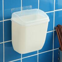 【满减】欧润哲 无痕贴壁挂式垃圾箱 卫生间玻璃门挂贴式垃圾桶小号带盖