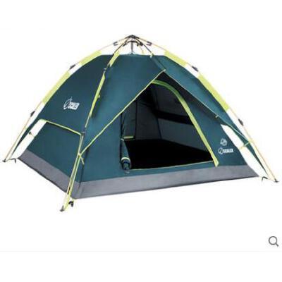 旅行自驾游帐篷防风沙牢固双层全自动帐篷户外登山野营帐篷3人多人 品质保证,支持货到付款 ,售后无忧