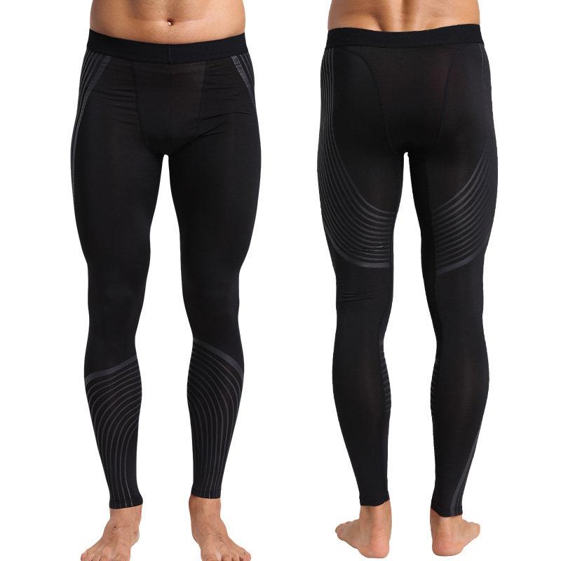 运动紧身裤男户外运动长裤足球篮球服打底训练晨练裤跑步健身裤