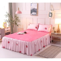 法兰绒保暖加厚席梦思床罩单件冬季床裙1.51.8米m珊瑚绒保护床单