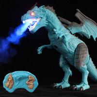 【喷雾飞龙】大号恐龙玩具霸王龙遥控电动儿童仿真模型侏罗纪
