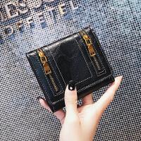 钱包女短款2折钱夹女新款韩版折叠拉链薄款多卡位复古零钱包