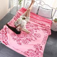 毛毯被子5D云毯双层绒毯加厚保暖婚庆毯子冬季睡毯结婚盖毯 200x230cm 九斤
