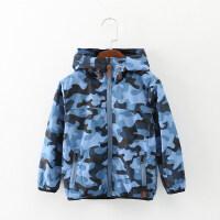 空军迷彩服儿童夹克2018新款秋装外套男童冲锋衣外衣女童防风上衣