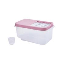 厨房密封米桶大号10kg 家用塑料透明防潮收纳米缸 大米防虫储米箱