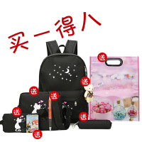 新款韩版百搭高中初中小学生书包女双肩包卡通校园旅行背包大