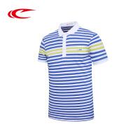 赛琪夏季新款男士运动上衣条纹POLO衫男式短袖T恤半袖体恤衫