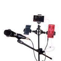 直播声卡套装 手机喊麦通用全民K歌主播电脑快手抖音声卡唱歌手机专用设备麦克风支架补光全套 官方标配