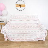 民族风粉色沙发巾短绒沙发垫布艺简约沙发套全盖巾四季通用沙发罩