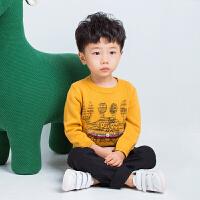 韩版儿童套头童装大口袋毛衣男女童宝宝卡通动物螃蟹针织衫