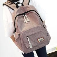 3件7折简约双肩包男女韩版中学生书包大容量旅行背包学院风电脑包休闲包