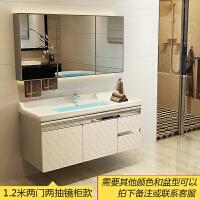 浴室柜组合卫浴洗漱台洗手台洗脸盆柜池面盆卫生间不锈钢吊柜镜柜