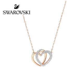 SWAROVSKI/施华洛世奇  Dear Medium双心形项链锁骨链 5194826