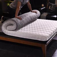榻榻米床垫床褥学生单人宿舍海绵垫加厚1.8m家用1.5m床双人经济型 10cm厚针织布床垫 白灰