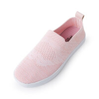 【2件2.5折到手价:30】美特斯邦威板鞋女年新款一体飞织板鞋商场款