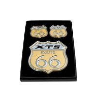 车上生活于凯迪拉克XT5 66号改装车尾贴公路标侧车标XT5后尾箱标纪念 XT5【66号公路标】3件装