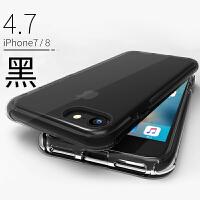 ROCK苹果8plus手机壳防摔新款iPhone7Plus全包透明7P硅胶套7气囊液态8p网红时尚8 【8/7 透明黑