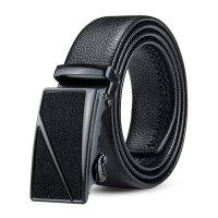 西裤皮带装饰男式腰带真皮黑自动扣青年裤带