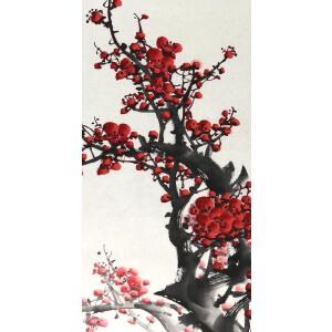 知名画家 王成喜 028《铁骨傲霜 2 》67*44cm,纸本软片,品如图。