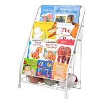 儿童书架简易绘本架杂志架小学生报刊书柜收纳铁艺落地宝宝小书架
