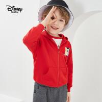 【3折�A估�r:58.2元】迪士尼男童外套秋款�r尚�B帽卡通休�e拉�衫�和�����上衣