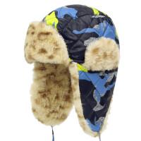 冬季婴幼儿套头帽子加绒夹棉雷锋帽儿童保暖护耳帽男女童宝宝帽子