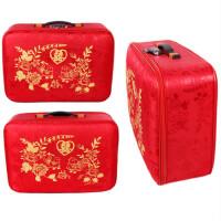 结婚皮箱红箱子结婚箱子陪嫁箱手提密码箱嫁妆箱官箱大红色压箱钱