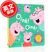 [现货]小猪佩奇 粉红猪小妹 英文原版 Peppa Pig: Oink! Oink! 呼噜 猪呼噜 绘本故事 3-6岁