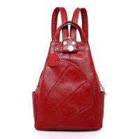 女士胸包多功能双肩包女208新款韩版时尚旅行三用包防盗软皮背包
