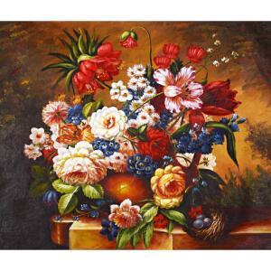 Y071郑美明 《古典花卉》