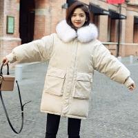 女中长款学生冬季ins面包服棉袄加厚外套潮
