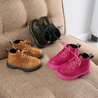 喜言熊 宝宝棉鞋软底防滑1-3-6岁男儿童短靴加绒马丁靴女童冬季