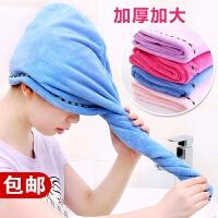 帽干发帽家用加厚洗浴吸水毛巾洗澡头套浴巾女士可爱浴帽洗发