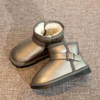 儿童雪地靴2018冬季新款韩版短靴棉靴保暖防滑加绒中大童女童童鞋