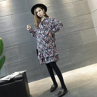 上衣秋季大码孕妇裙两件套孕妇连衣裙秋装套装新款韩版